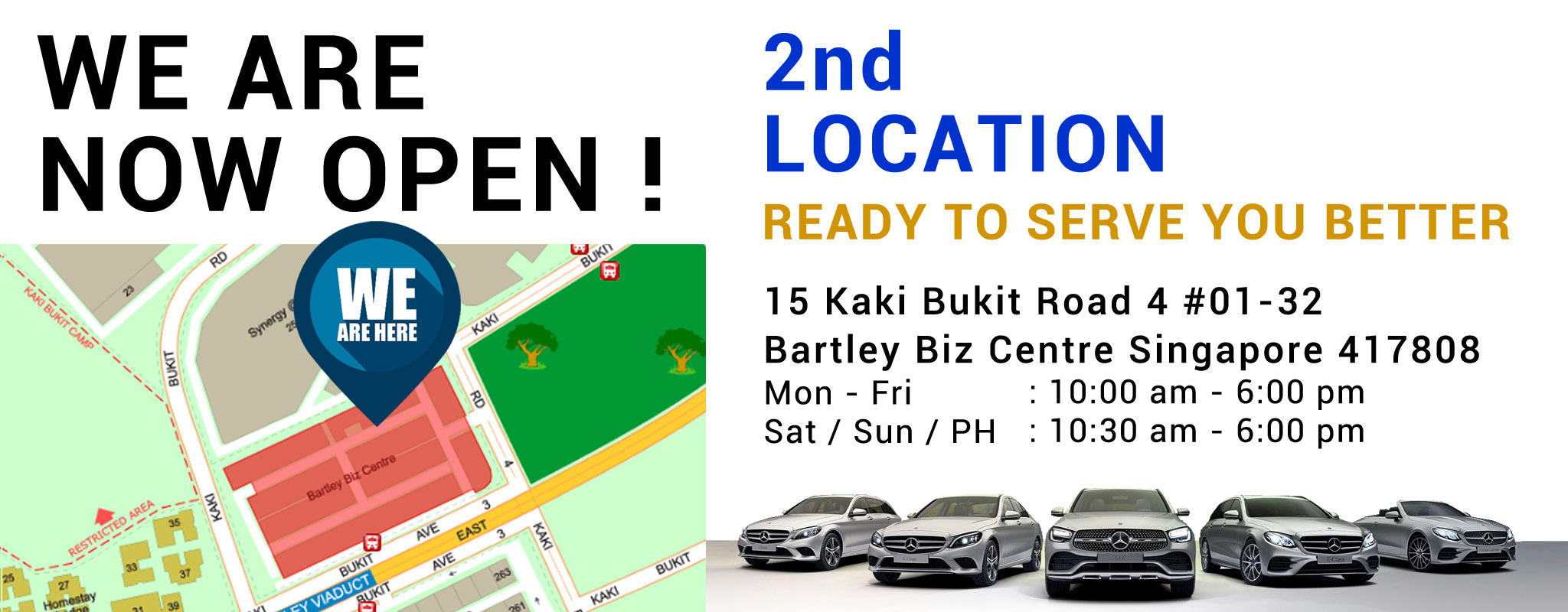 M9 Kaki Bukit Showroom Operation Hours