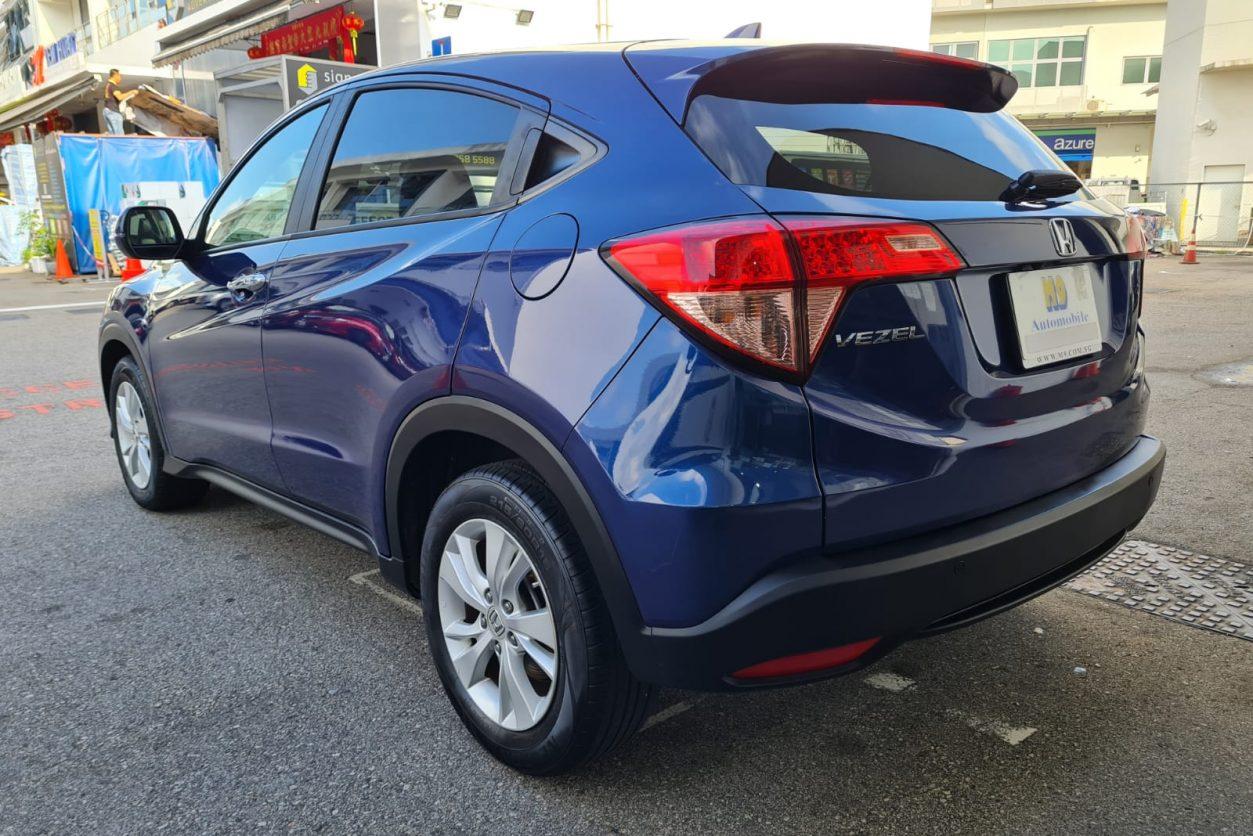 Blue Honda Vezel Back - 1