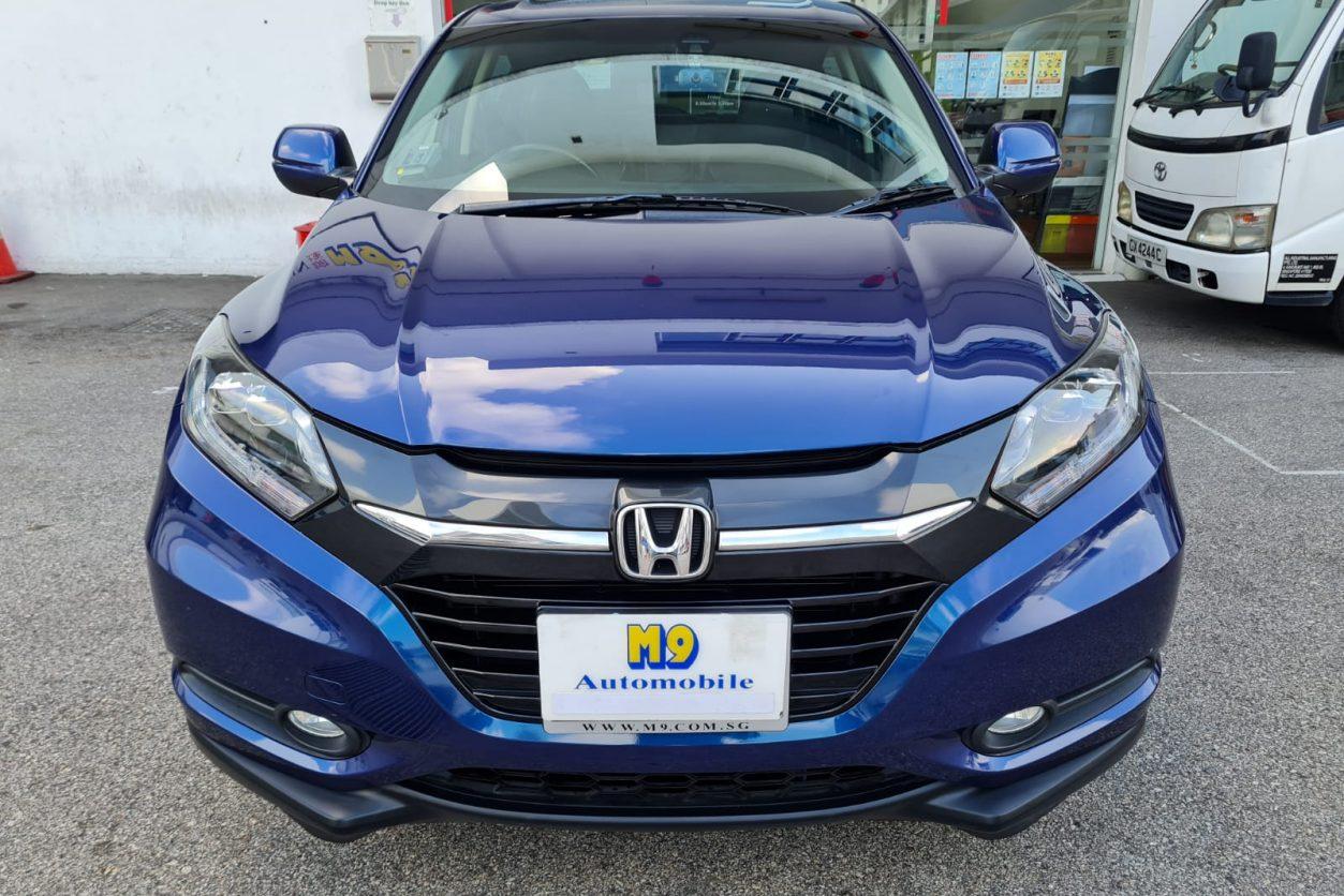 Blue Honda Vezel Front